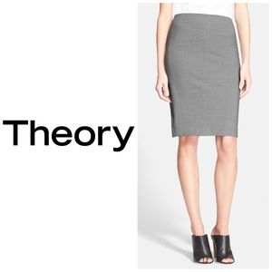 Theory Gray Stretch Pencil ✏️ Skirt Size 2